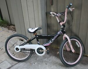 "Pink Black Girls BMX 20"" Wheels"