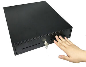 """14"""" Manual Open Portable Cash Drawer w/Bill & Coin Till Trays"""