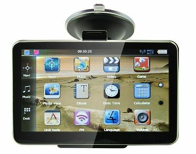 "TOM 5"" CAR GPS SAT NAV NAVIGATION SYSTEM TOM FM POI FREE UK + EU MAPS SATNAV"