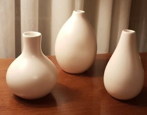 Vases Trio of Ornamental Chinese Handmade  $15