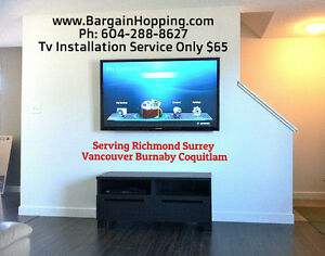 Tv Wall Mounting Install Service in Vancouver Surrey Burnaby