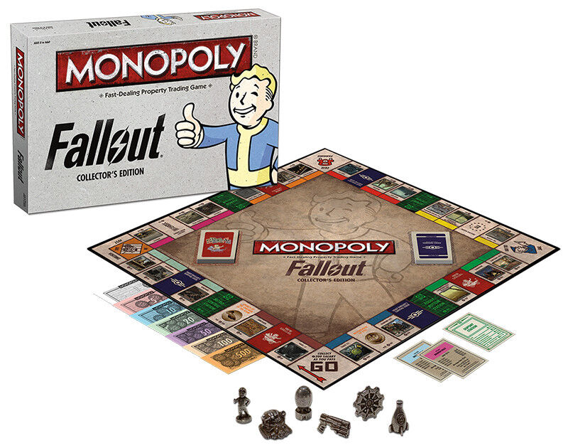 USAopoly MONOPOLY® Call Of Duty, IT, Guardians of The Galaxy, Warhammer  ... Fallout