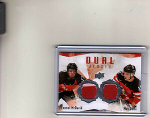 Connor McDavid and Max Domi Jersey card