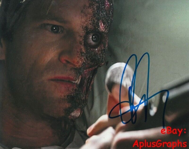 AARON ECKHART.. The Dark Knight's Two Face - SIGNED