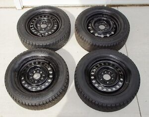 215/60-15 Winter Tires & GM Rims w/Wheelcovers - Reduced!