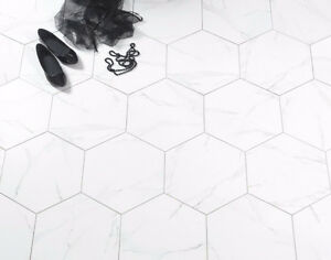 Tuiles porcelaine hexagonales / Hexagonal porcelain tiles