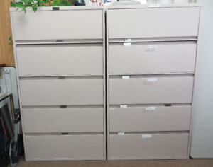 2x Steelcase 5-Drawer Lateral File Cabinets