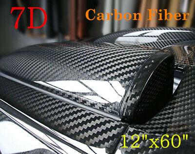 7D Waterproof Carbon Fiber Vinyl Car Wrap Sheet Roll Film Sticker Decal Paper (Black Vinyl Bolt)