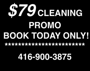 MOVE IN/OUT CLEANING - CALL 416-900-3875