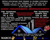 PRÊTEUR PRIVÉ  Prêts Hypothécaire 1 Ière ou 2 Ième Rang.