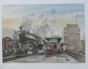 Hamilton TH&B  train station Ltd by W.Folkins