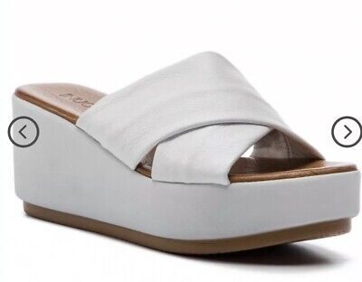 H1/130* Inuovo Ice Grey Womens Slip On Mules Eur 40