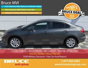 2012 Honda Civic EX 1.8L 4 CYL i-VTEC 5 SPD MANUAL FWD 4D SEDAN