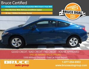 2013 Honda Civic LX 1.8L 4 CYL I-VTEC 5 SPD MANUAL FWD 2D COUPE