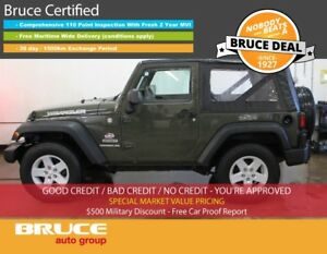 2015 Jeep Wrangler SPORT 3.6L 6 CYL 6 SPD MANUAL 4X4 - 2 DOOR