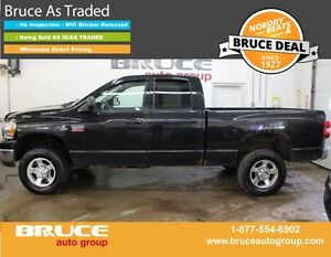 2008 Dodge RAM 2500 SLT 6.7L 6 CYL CUMMINS TURBODIESEL 4X4 QUAD