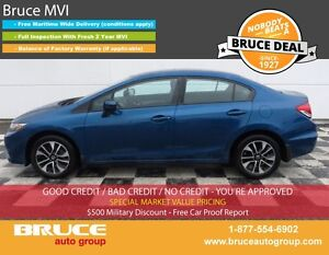 2015 Honda Civic EX 1.8L 4 CYL I-VTEC CVT FWD 4D SEDAN SUN ROOF,