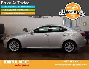 2008 Lexus IS 250 2.5L 6 CYL AUTOMATIC AWD 4D SEDAN LEATHER INTE