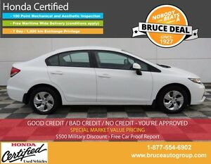 2013 Honda Civic LX 1.8L 4 CYL i-VTEC AUTOMATIC FWD 4D SEDAN