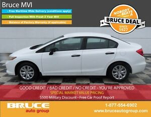 2012 Honda Civic DX 1.8L 4 CYL I-VTEC 5 SPD MANUAL FWD 4D SEDAN