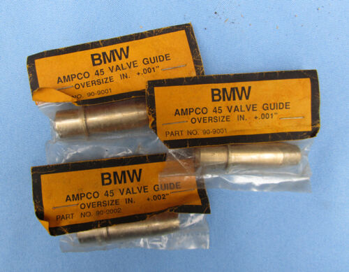VINTAGE BMW MOTORCYCLE VALVE GUIDES AMPCO 45 OVERSIZE .001 .002 90-90001 90-9002