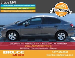 2014 Honda Civic LX 1.8L 4 CYL i-VTEC 5 SPD MANUAL FWD 4D SEDAN