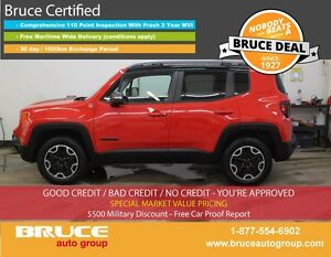 2015 Jeep Renegade Trailhawk 2.4L 4 CYL AUTOMATIC 4WD LEATHER IN