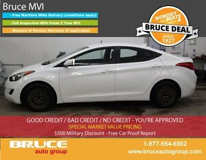 2013 Hyundai Elantra GL 1.8L 4 CYL 6 SPD MANUAL FWD 4D SEDAN