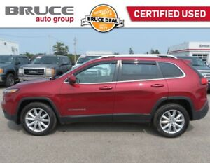 2016 Jeep Cherokee LIMITED - LEATHER INTERIOR / 4X4 / REAR CAMER