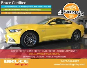 2015 Ford Mustang GT 5.0L 8 CYL AUTOMATIC RWD 2D COUPE HEATED/CO