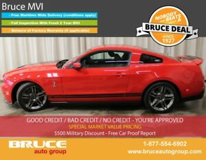 2010 Ford Mustang Shelby GT500 5.4L 8 CYL 6 SPD MANUAL RWD 2D CO