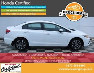 2014 Honda Civic EX 1.8L 4 CYL I-VTEC CVT FWD 4D SEDAN SUN ROOF,