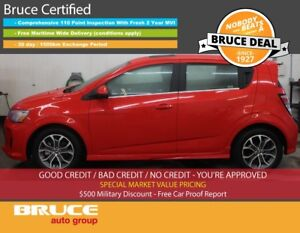 2017 Chevrolet Sonic RS LT 1.4L 4 CYL TURBO AUTOMATIC FWD 5D HAT