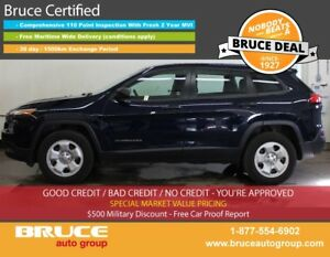 2016 Jeep Cherokee Sport 2.4L 4 CYL AUTOMATIC 4WD BACK-UP CAMERA