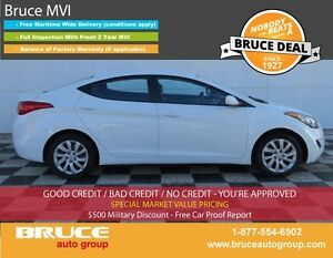 2012 Hyundai Elantra GLS 1.8L 4 CYL 6 SPD MANUAL FWD 4D SEDAN
