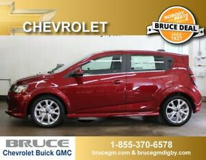 2018 Chevrolet Sonic LT 1.4L 4 CYL TURBOCHARGED AUTOMATIC 5D HAT