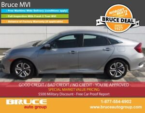 2016 Honda Civic LX 2.0L 4 CYL I-VTEC CVT FWD 4D SEDAN