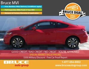 2015 Honda Civic EX 1.8L 4 CYL i-VTEC CVT FWD 2D COUPE HEATED SE
