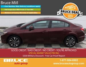 2013 Honda Civic EX 1.8L 4 CYL i-VTEC AUTOMATIC FWD 4D SEDAN HEA