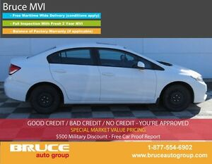 2013 Honda Civic EX 1.8L 4 CYL i-VTEC AUTOMATIC FWD 4D SEDAN SUN