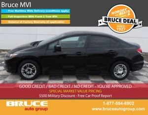 2014 Honda Civic LX 1.8L 4 CYL I-VTEC CVT FWD 4D SEDAN