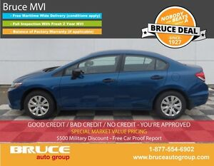 2014 Honda Civic DX 1.8L 4 CYL I-VTEC 5 SPD MANUAL FWD 4D SEDAN