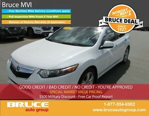 2012 Acura TSX 2.4L 4 CYL I-VTEC 6 SPD MANUAL FWD 4D SEDAN SUN R