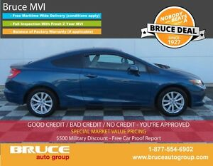 2012 Honda Civic EX 1.8L 4 CYL I-VTEC 5 SPD MANUAL FWD 2D COUPE