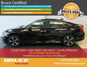 2016 Honda Civic TOURING 1.5L 4 CYL CVT FWD 4D SEDAN NAVIGATION,