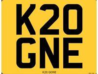 K20 GNE Licence Plate (Honda K20)