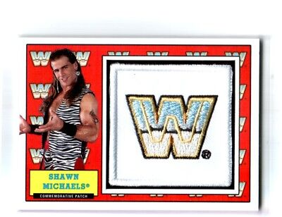 Wwe Shawn Michaels 2017 Topps Heritage Legends Com Patch Relic Card Sn 37 Of 299