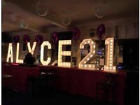Giant 4ft hire letters and numbers for hire