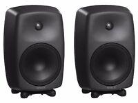 Genelec 8050 BPM-7 Active Studio Monitors - Matt Black (Pair) NEW