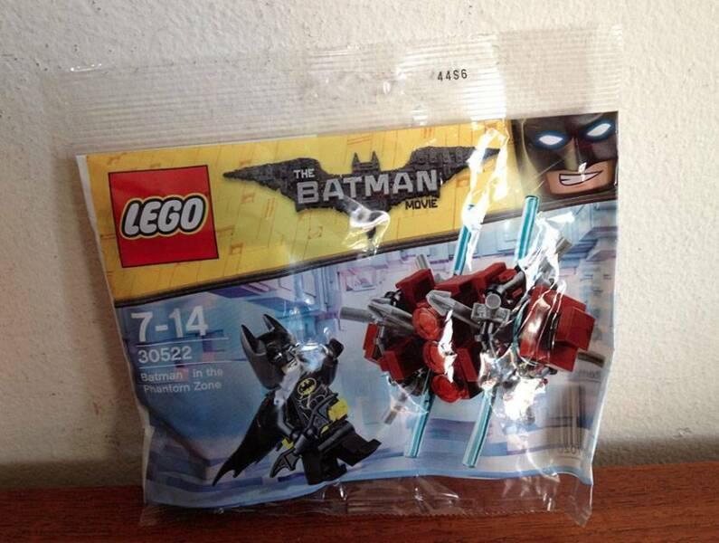 Lego The Batman Movie 30522 New Sealed Batman In the Phantom Zone Polybag